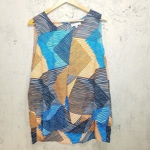 Chaus New York geometric top